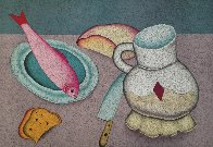 Still Life With Fish And Bread Limited Edition Print by Mihail Chemiakin - 0