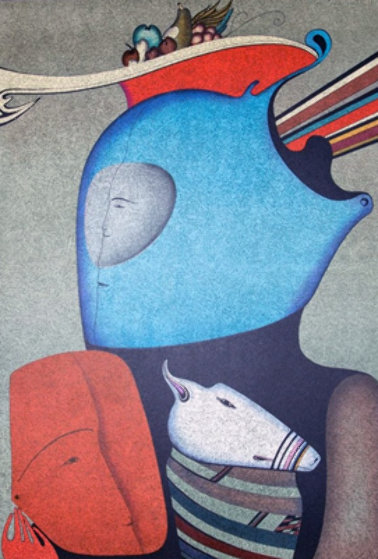 Mask With Still Life Limited Edition Print by Mihail Chemiakin