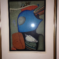 Mask With Still Life Limited Edition Print by Mihail Chemiakin - 2