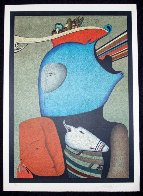 Mask With Still Life Limited Edition Print by Mihail Chemiakin - 1