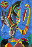 Untitled - Man With Pipe Pastel 1989 61x41 Original Painting by Mihail Chemiakin - 0