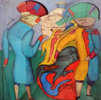 Carnival of Saint Petersburg 1977 12x12 Works on Paper (not prints) - Mihail Chemiakin