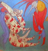 M. Peugzih, Carnival St. Peterburg 1978 27x27 Original Painting by Mihail Chemiakin - 0