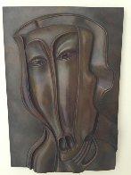 St. Christopher Bronze Bas Relief Sculpture 18x13 1984 Sculpture by Mihail Chemiakin - 1