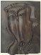 St. Christopher Bronze Bas Relief Sculpture 18x13 1984 Sculpture by Mihail Chemiakin - 0