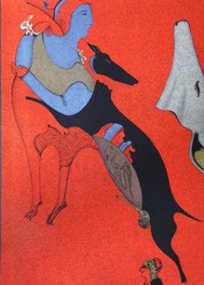 Red Centaur 1978 Limited Edition Print by Mihail Chemiakin