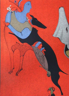 Red Centaur 1978 Limited Edition Print - Mihail Chemiakin