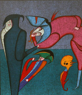 Whispers 1980 Limited Edition Print by Mihail Chemiakin