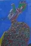 Nijinsky Pastel 1984 32x25 Works on Paper (not prints) - Mihail Chemiakin