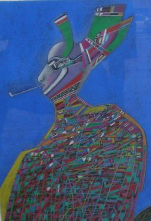 Nijinsky Pastel 1984 32x25 Works on Paper (not prints) - Mihail Chemiakin