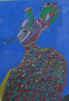 Nijinsky Pastel 1984 32x25 Works on Paper (not prints) by Mihail Chemiakin