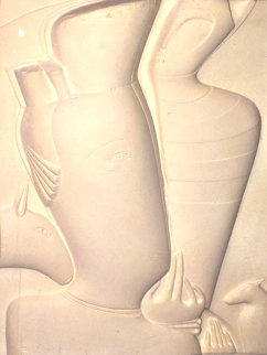 Untitled Cast Paper 1980 Limited Edition Print by Mihail Chemiakin