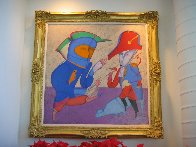 Two Generals 1978 52x52 Super Huge Original Painting by Mihail Chemiakin - 1