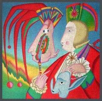 Le Masque De Carnaval De St. Petersburg 1995 Limited Edition Print - Mihail Chemiakin