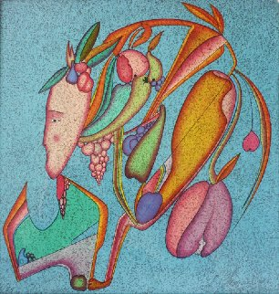 Metaphysical Flowers Image IV 1980 Limited Edition Print by Mihail Chemiakin