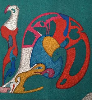Metaphysical Snail 1986 Limited Edition Print - Mihail Chemiakin