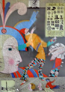 Cirque Russe I and II, Suite of 2 Lithographs 1987 Limited Edition Print by Mihail Chemiakin