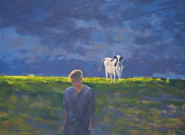 Pasture Scene 1991 Limited Edition Print by Chase Chen