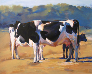 Cows II 1990 Limited Edition Print by Chase Chen