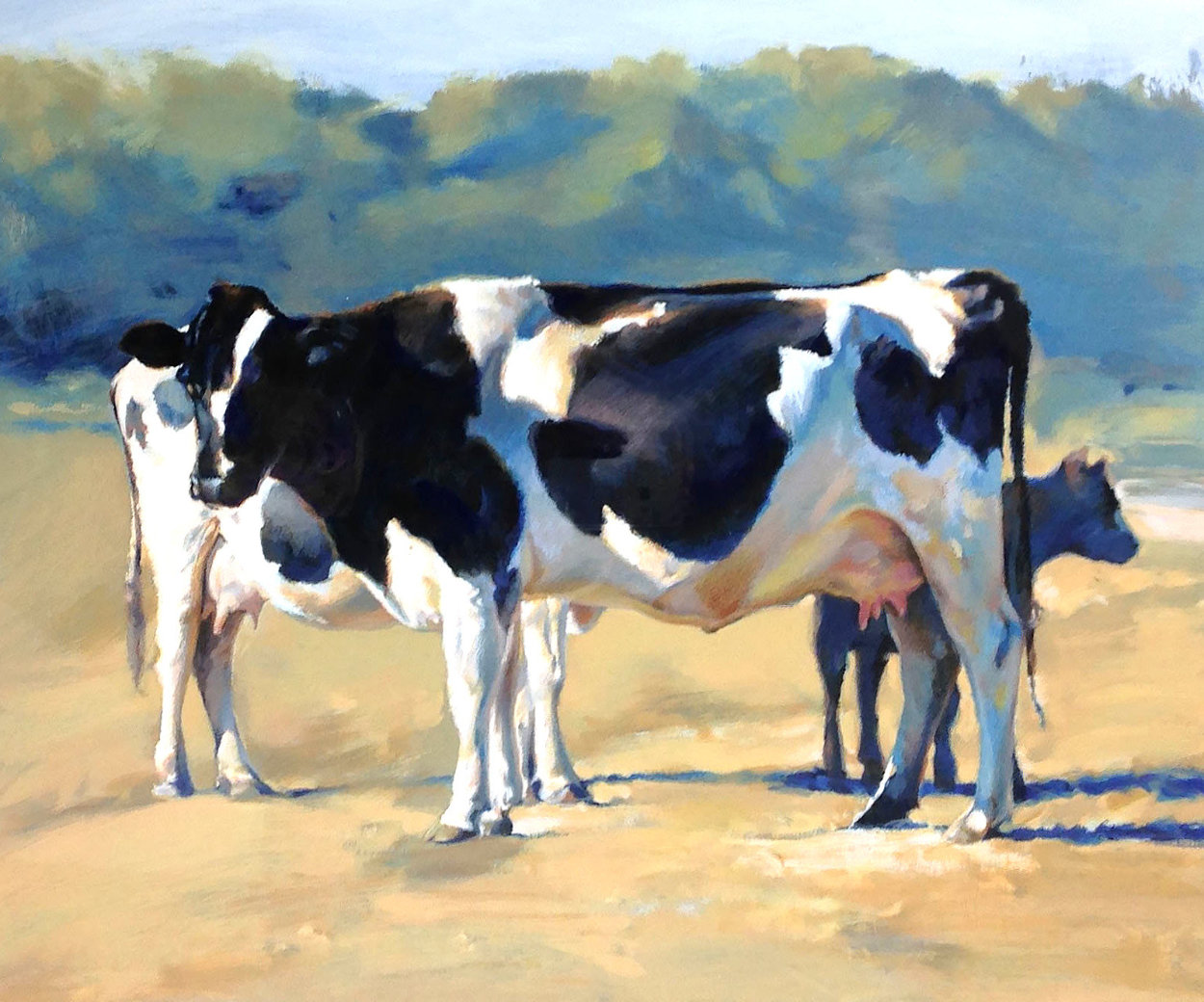 Cows 1990 Limited Edition Print by Chase Chen