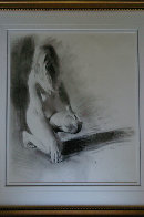 Nude Girl Kneeling 1992 23x17 Works on Paper (not prints) by Chase Chen - 4