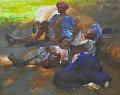 Midsummer Night's Dream 1997 28x33 Original Painting - Chase Chen