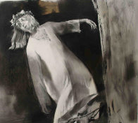 Ophelia Falling Into the River Drawing  1996 28x30 Drawing by Chase Chen - 0