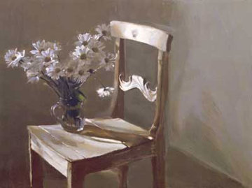 Daisies on a Chair 1992 Limited Edition Print by Chase Chen