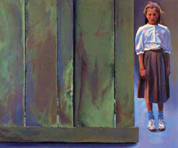Girl by Fence 1990 Limited Edition Print by Chase Chen