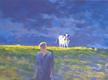 Pasture Scene Limited Edition Print - Chase Chen