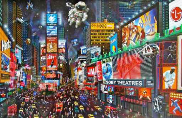 Times Square  3-D 2013 Limited Edition Print by Alexander Chen