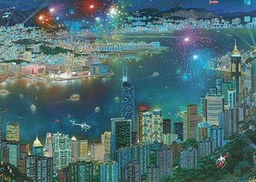Arc De Triumphe, Notre Dame, Hong Kong, Time Square Panorama, Set of 4 Prints 2003 Limited Edition Print by Alexander Chen