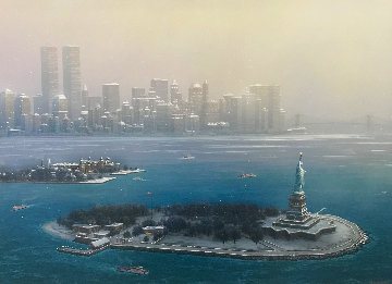 New York Gateway Winter Embellished 2000 Limited Edition Print - Alexander Chen