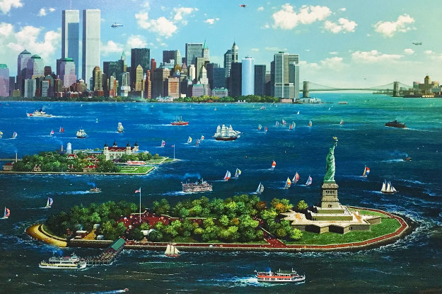 New York Gateway 2013 Embellished   Limited Edition Print by Alexander Chen