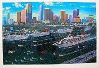 Miami Cruising Monoprint 1995 17x25 Works on Paper (not prints) by Alexander Chen - 2