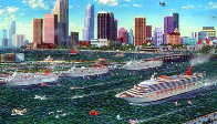 Miami Cruising Monoprint 1995 17x25 Works on Paper (not prints) by Alexander Chen - 0
