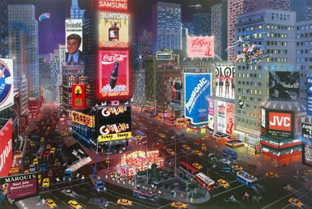 An Evening in Times Square 2001 Limited Edition Print by Alexander Chen