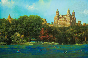 Central Park Lake Fall Limited Edition Print by Alexander Chen
