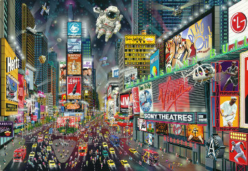 Time Square Panorama  2012 Embellished Limited Edition Print - Alexander Chen