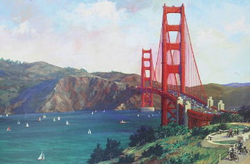 Golden Gate Bike Ride 2014 Limited Edition Print - Alexander Chen