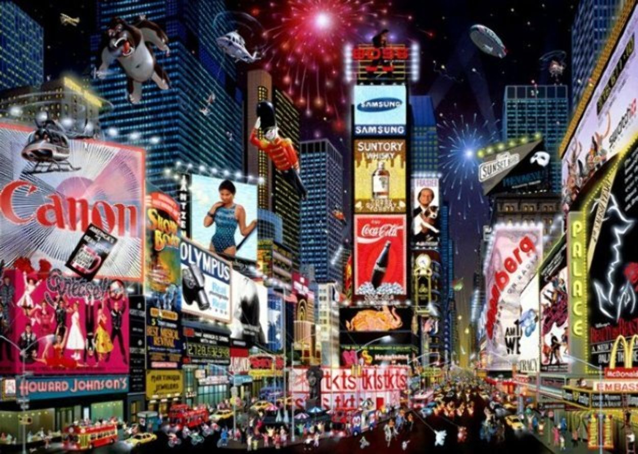 Times Square Parade 2007 Embellished Limited Edition Print by Alexander Chen