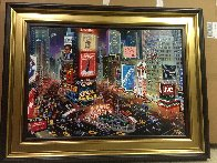 An Evening in Times Square 2013 Embellished  Limited Edition Print by Alexander Chen - 1