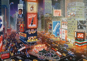 An Evening in Times Square 2013 Embellished  Limited Edition Print by Alexander Chen