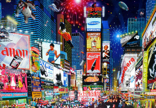 Times Square Parade 2007 Embellished Giclee 25x36 By