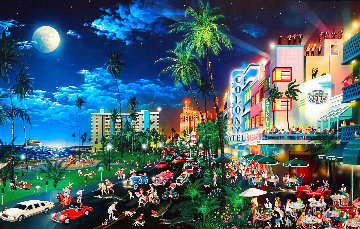 South Beach  2007 Embellished Limited Edition Print - Alexander Chen