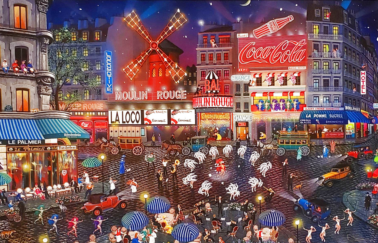 Moulin Rouge 2003 Embellished Limited Edition Print by Alexander Chen
