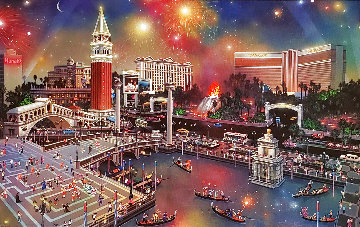 Grand View Las Vegas 2002 Embellished Limited Edition Print - Alexander Chen