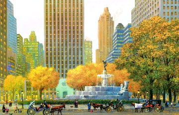 New York Pulitzer Fountain 2015 Limited Edition Print - Alexander Chen