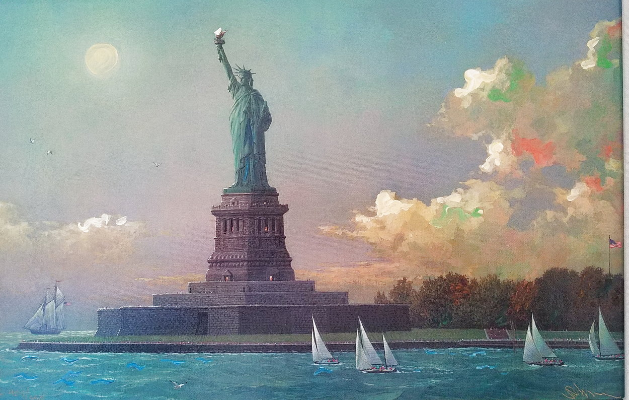 Liberty Island Embellished  Limited Edition Print by Alexander Chen