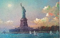 Liberty Island Embellished  Limited Edition Print by Alexander Chen - 0